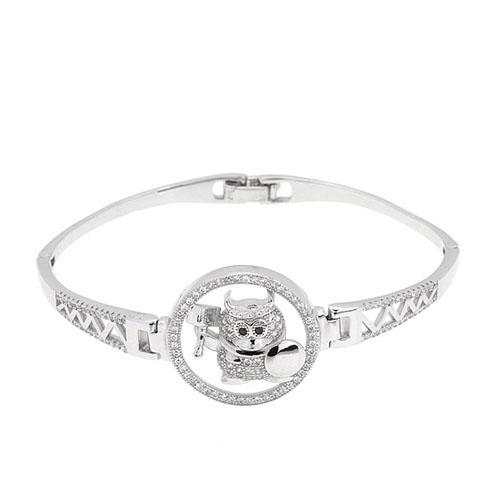 bracelet femme argent zirconium 9500312