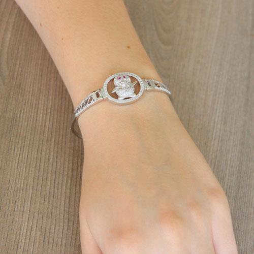 bracelet femme argent zirconium 9500315 pic5