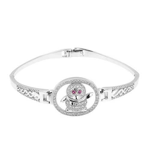 bracelet femme argent zirconium 9500315