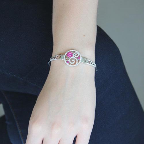 bracelet femme argent zirconium 9500316 pic4