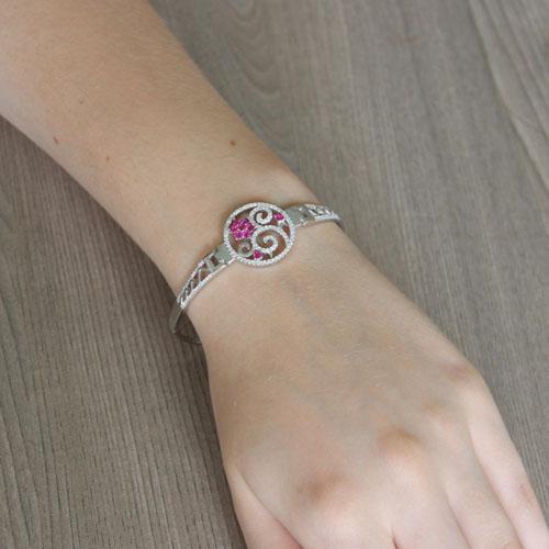bracelet femme argent zirconium 9500316 pic5