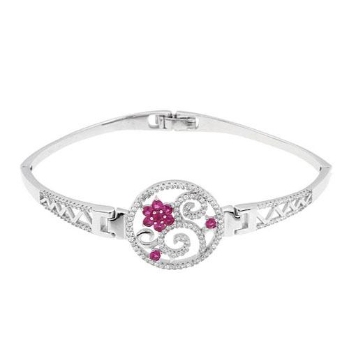 bracelet femme argent zirconium 9500316