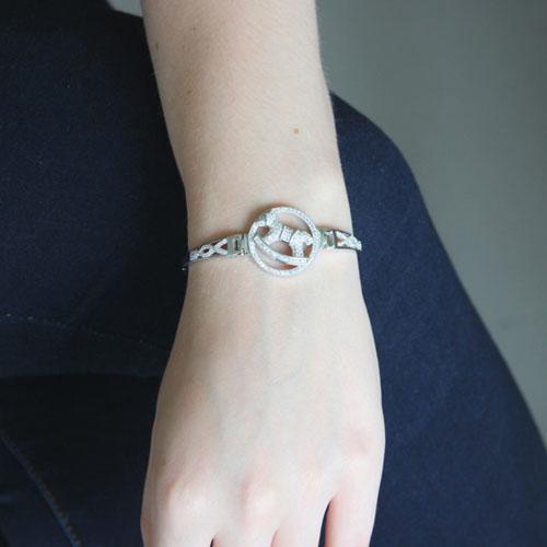 bracelet femme argent zirconium 9500317 pic4