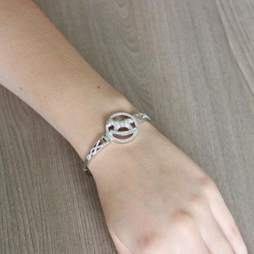 bracelet femme argent zirconium 9500317 pic5