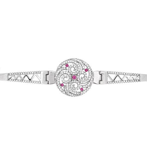 bracelet femme argent zirconium 9500319 pic2