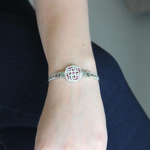 bracelet femme argent zirconium 9500319 pic4