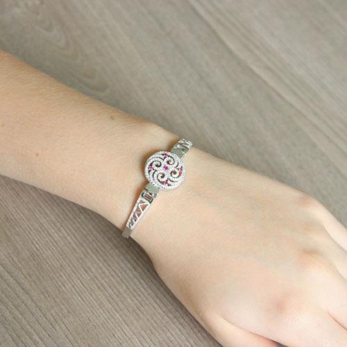 bracelet femme argent zirconium 9500319 pic5