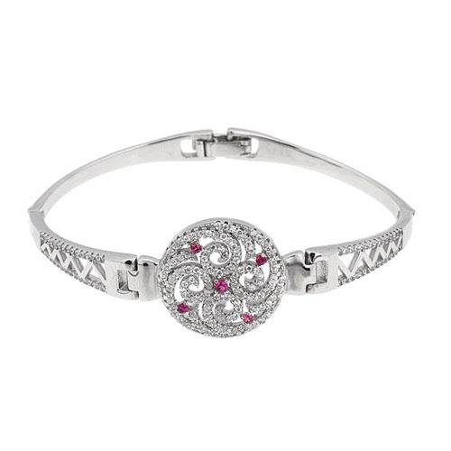 bracelet femme argent zirconium 9500319
