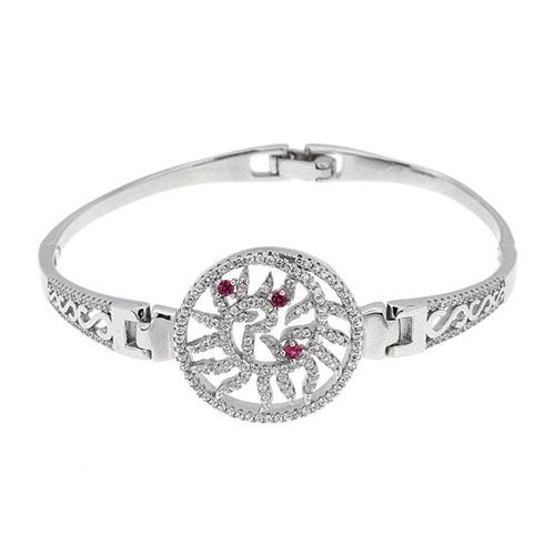 bracelet femme argent zirconium 9500320