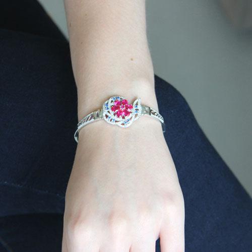 bracelet femme argent zirconium 9500321 pic4