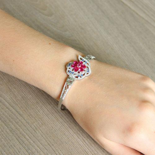 bracelet femme argent zirconium 9500321 pic5