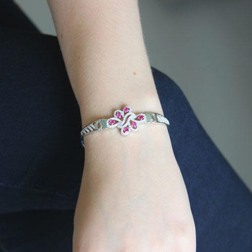 bracelet femme argent zirconium 9500322 pic4