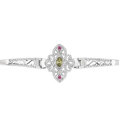 bracelet femme argent zirconium 9500325 pic2