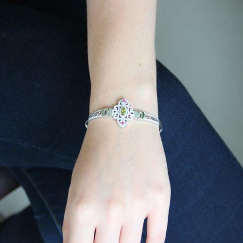 bracelet femme argent zirconium 9500325 pic4