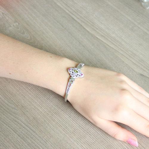 bracelet femme argent zirconium 9500325 pic5