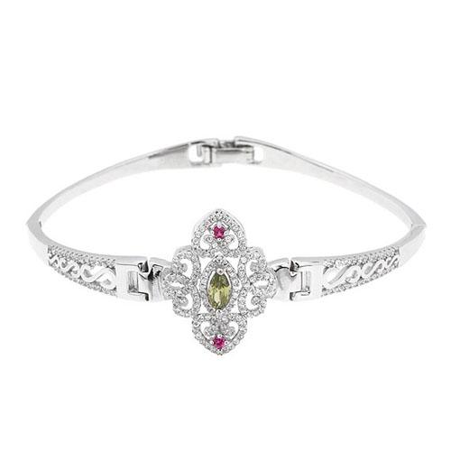 bracelet femme argent zirconium 9500325