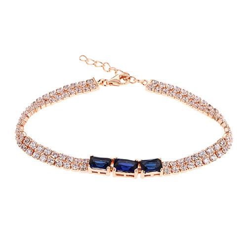bracelet femme argent zirconium 9500403