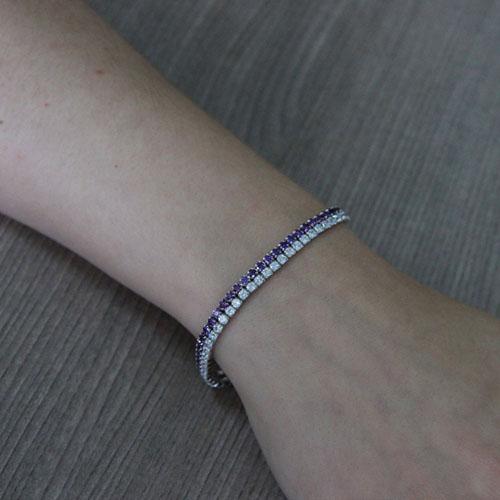 bracelet femme argent zirconium 9500404 pic4