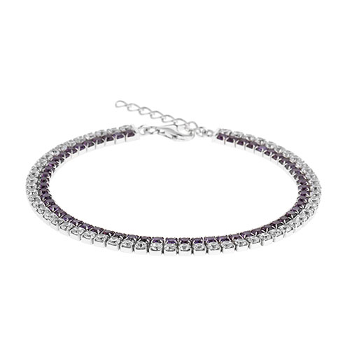 bracelet femme argent zirconium 9500404