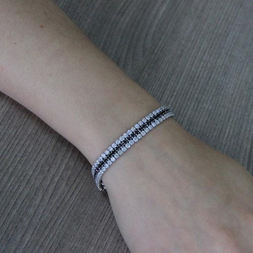 bracelet femme argent zirconium 9500406 pic4