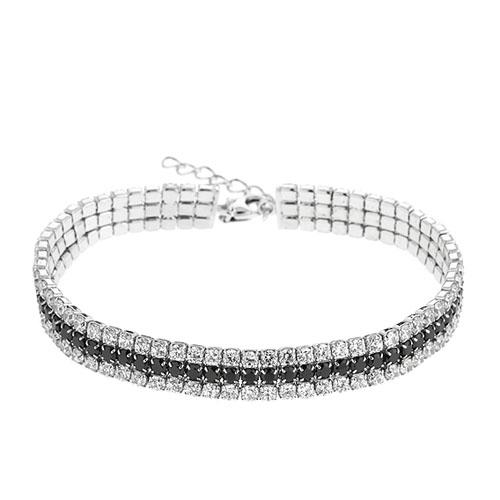 bracelet femme argent zirconium 9500406