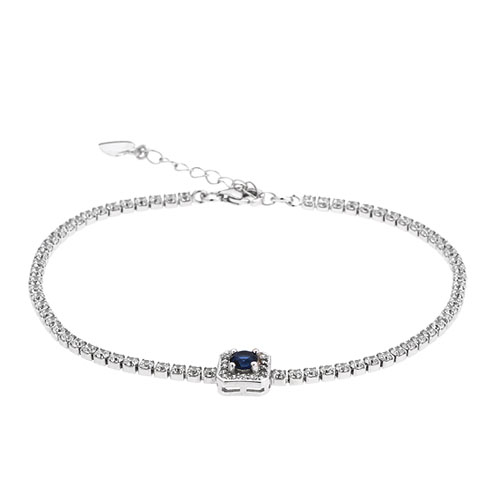 bracelet femme argent zirconium 9500409