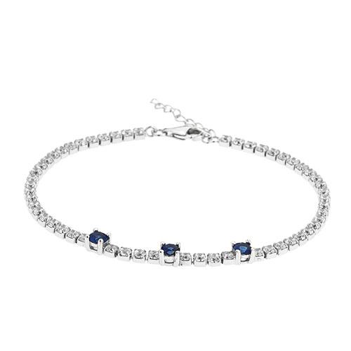 bracelet femme argent zirconium 9500410