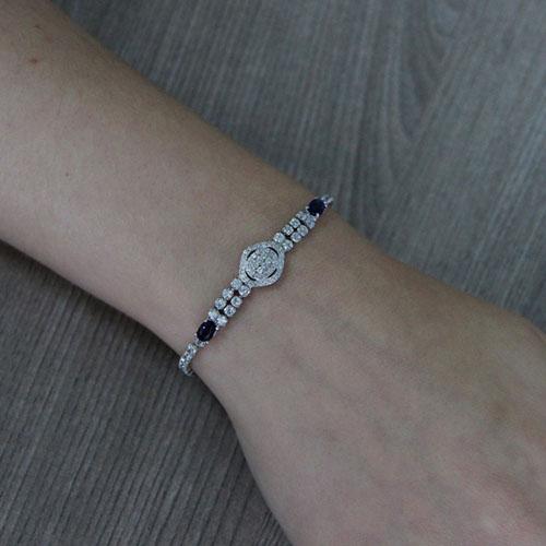 bracelet femme argent zirconium 9500412 pic4