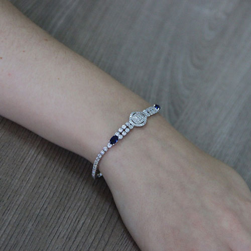 bracelet femme argent zirconium 9500412 pic5