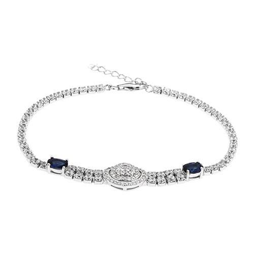 bracelet femme argent zirconium 9500412