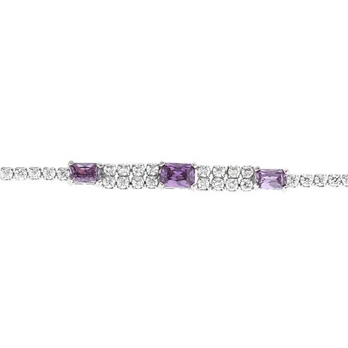 bracelet femme argent zirconium 9500413 pic2