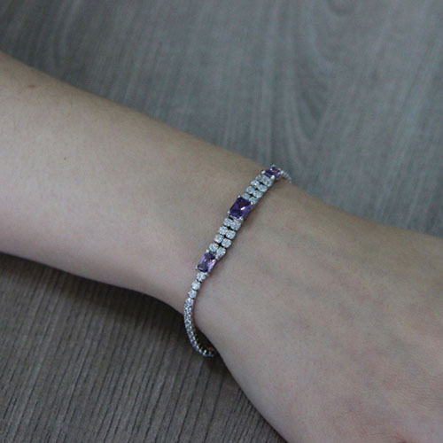 bracelet femme argent zirconium 9500413 pic5