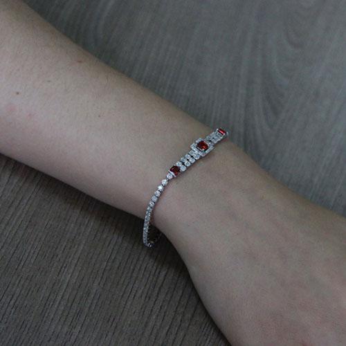 bracelet femme argent zirconium 9500414 pic5