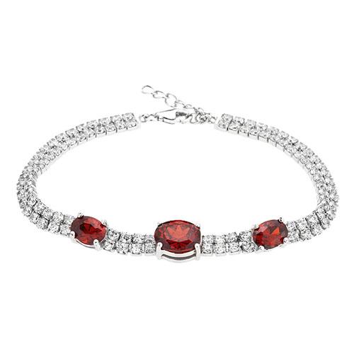 bracelet femme argent zirconium 9500415