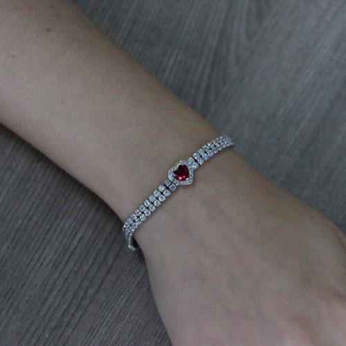 bracelet femme argent zirconium 9500416 pic4