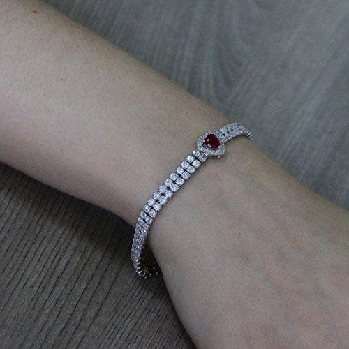bracelet femme argent zirconium 9500416 pic5