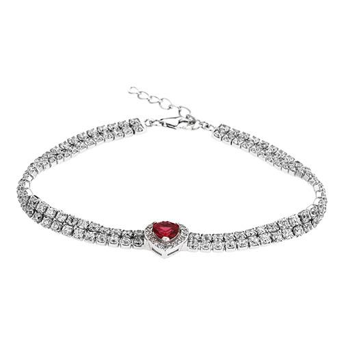 bracelet femme argent zirconium 9500416
