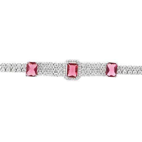 bracelet femme argent zirconium 9500417 pic2
