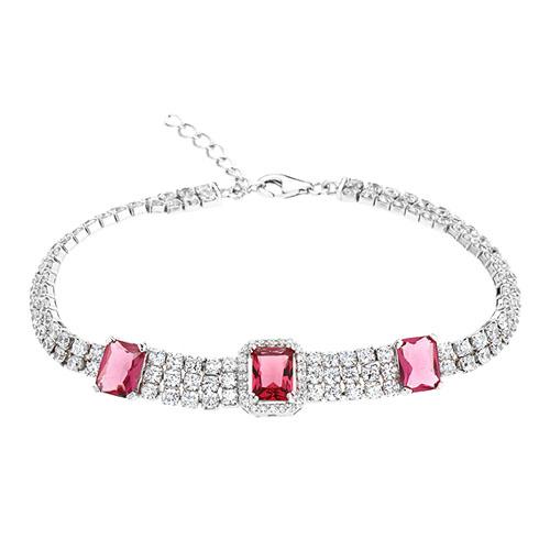 bracelet femme argent zirconium 9500417