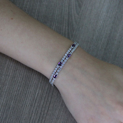 bracelet femme argent zirconium 9500418 pic4