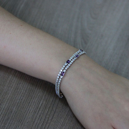 bracelet femme argent zirconium 9500418 pic5