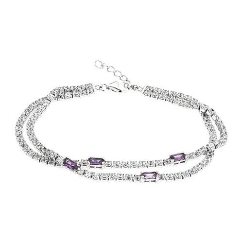 bracelet femme argent zirconium 9500418