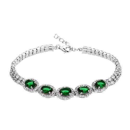 bracelet femme argent zirconium 9500419