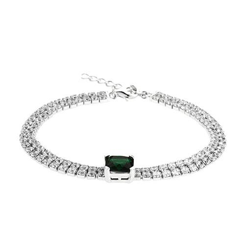 bracelet femme argent zirconium 9500420