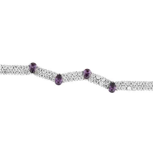 bracelet femme argent zirconium 9500421 pic2