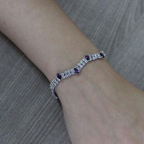 bracelet femme argent zirconium 9500421 pic4