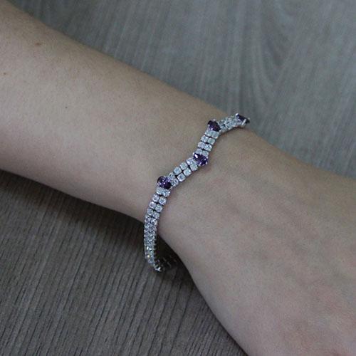 bracelet femme argent zirconium 9500421 pic5