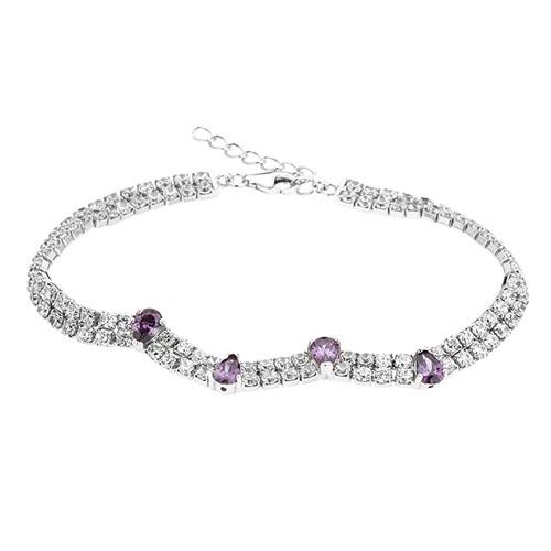 bracelet femme argent zirconium 9500421
