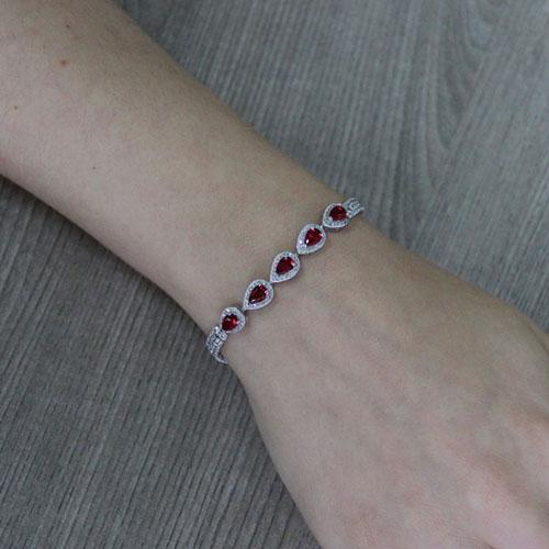 bracelet femme argent zirconium 9500422 pic4