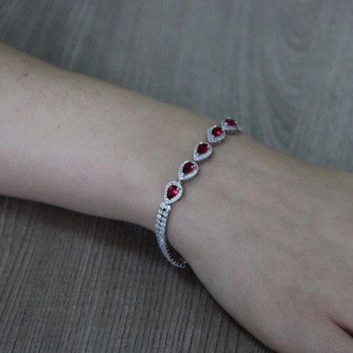 bracelet femme argent zirconium 9500422 pic5